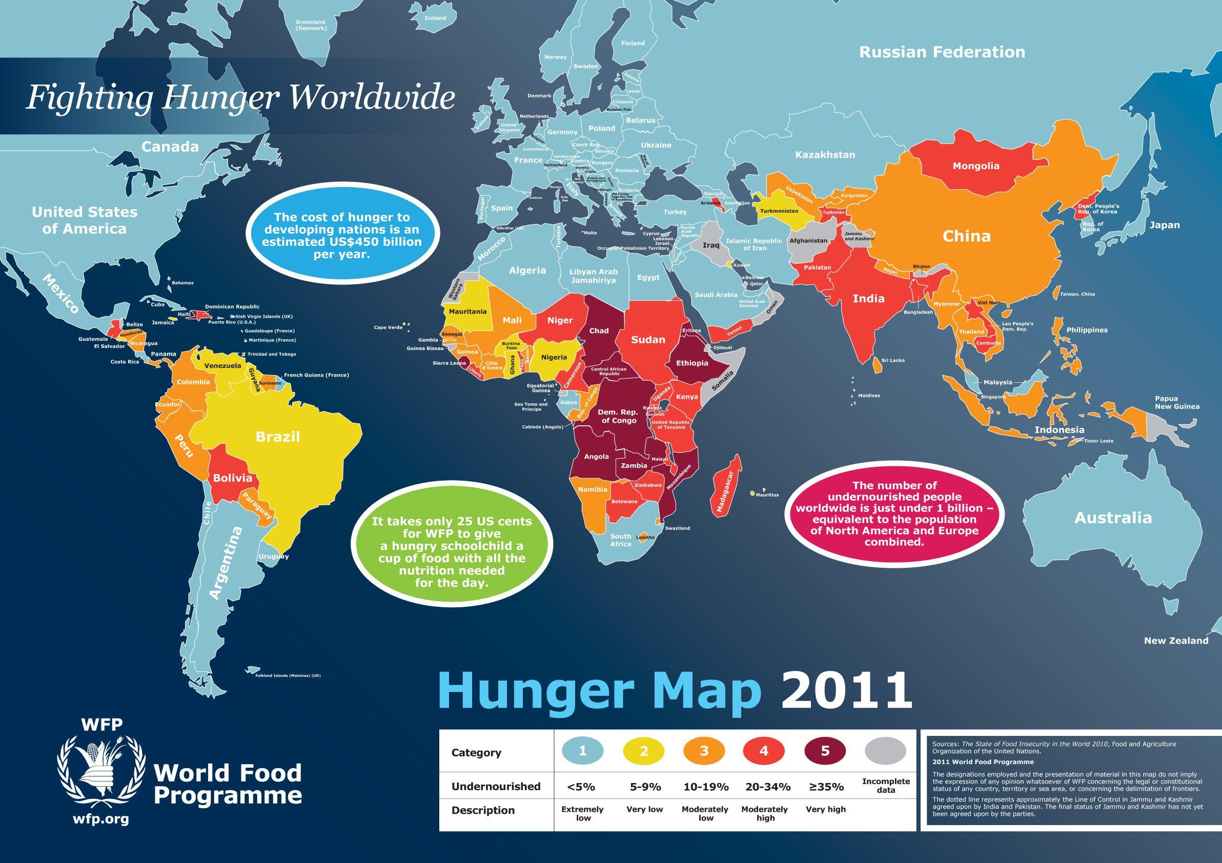 World Hunger Map Maps Pinterest - World map program