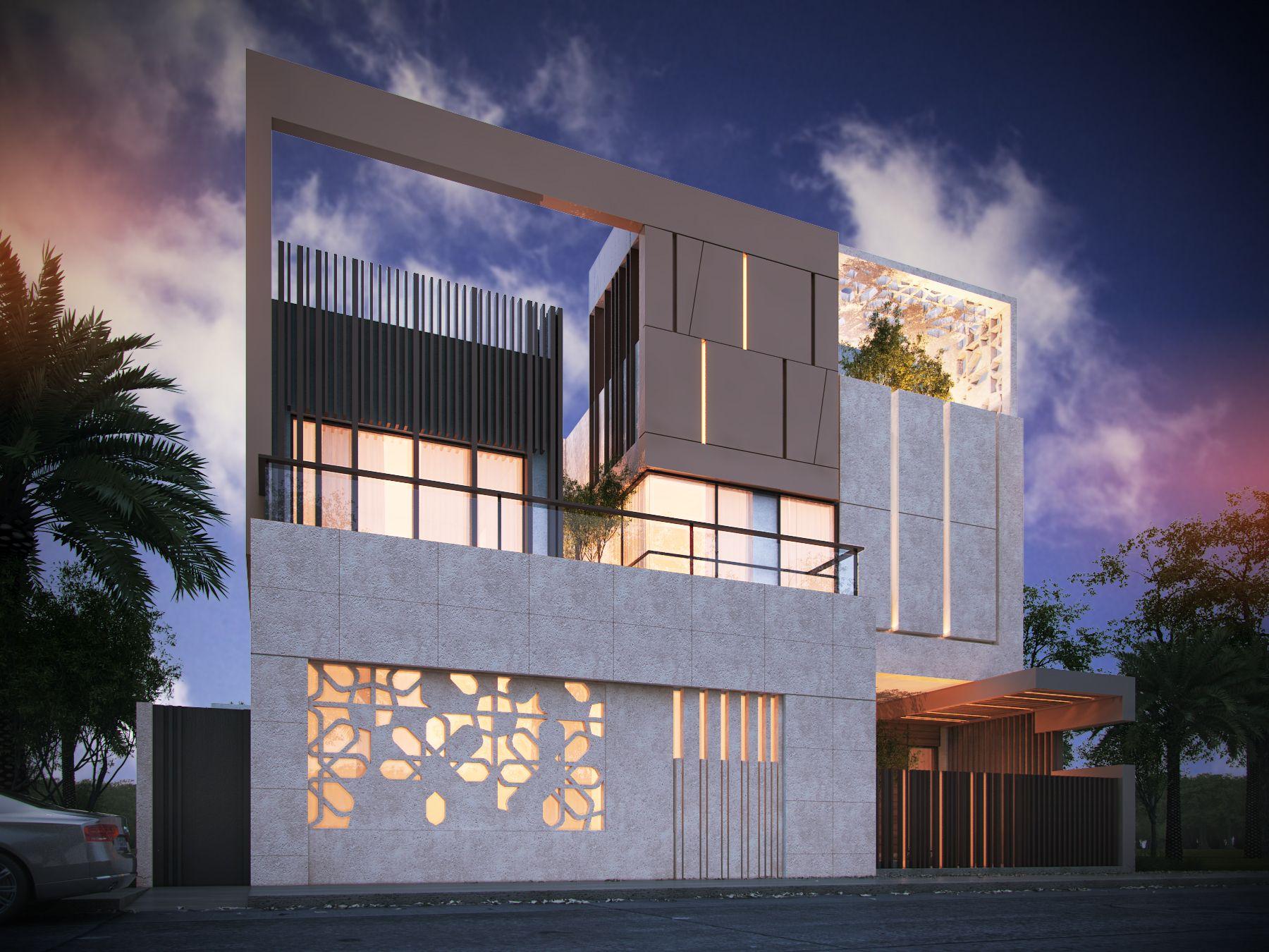 Award winning house at kk nagar chennai designed by ansari architects - 600 M Private Villa Kuwait Sarah Sadeq Architects