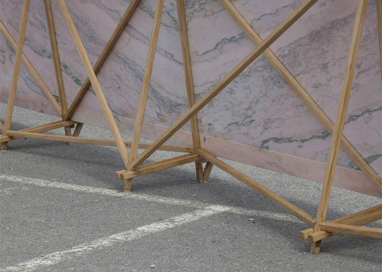 Bureau a installs pink marble urinal at zurich carpark smbd style