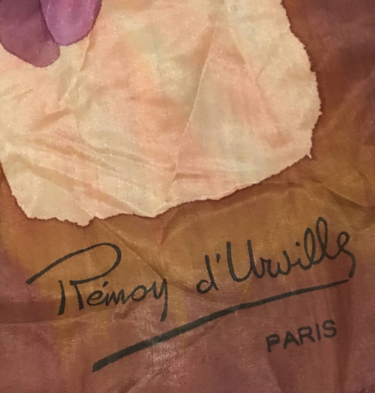 """Rémoy d'Urville Seidenaquarellschal – 36 """"Square"""
