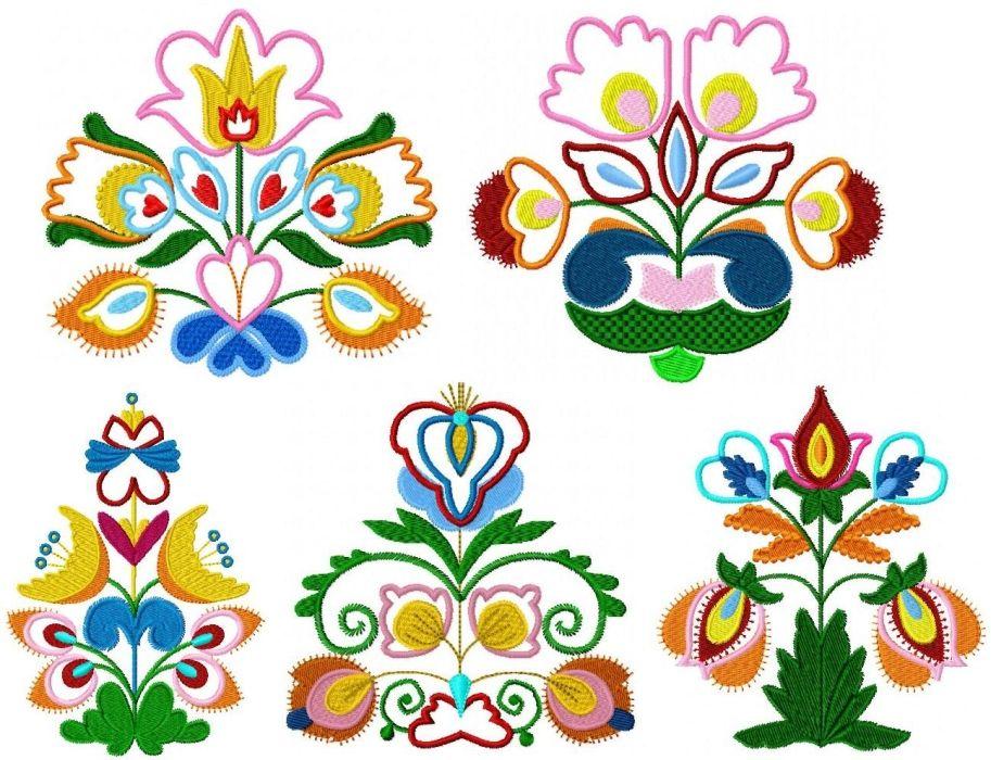Folk Art Flower Designs Folk Art Flowers Scandinavian Folk Art Flower Art