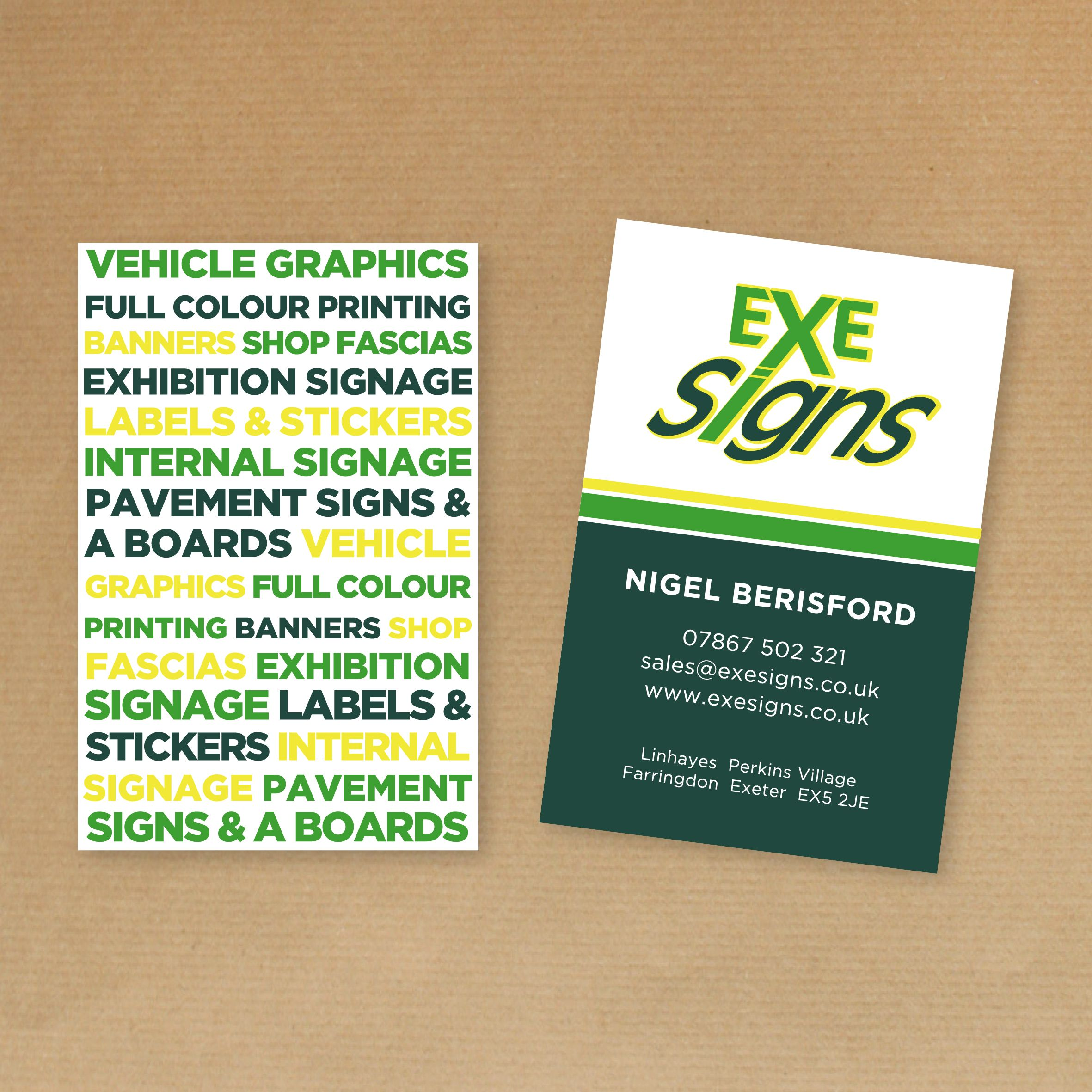 When nigel zoe berisford from exesigns asked us to revamp great value printing graphic design in exeter reheart Images