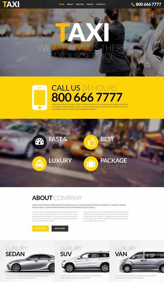 10 Best Taxi Website Templates Free Premium Website Template Responsive Website Template Taxi