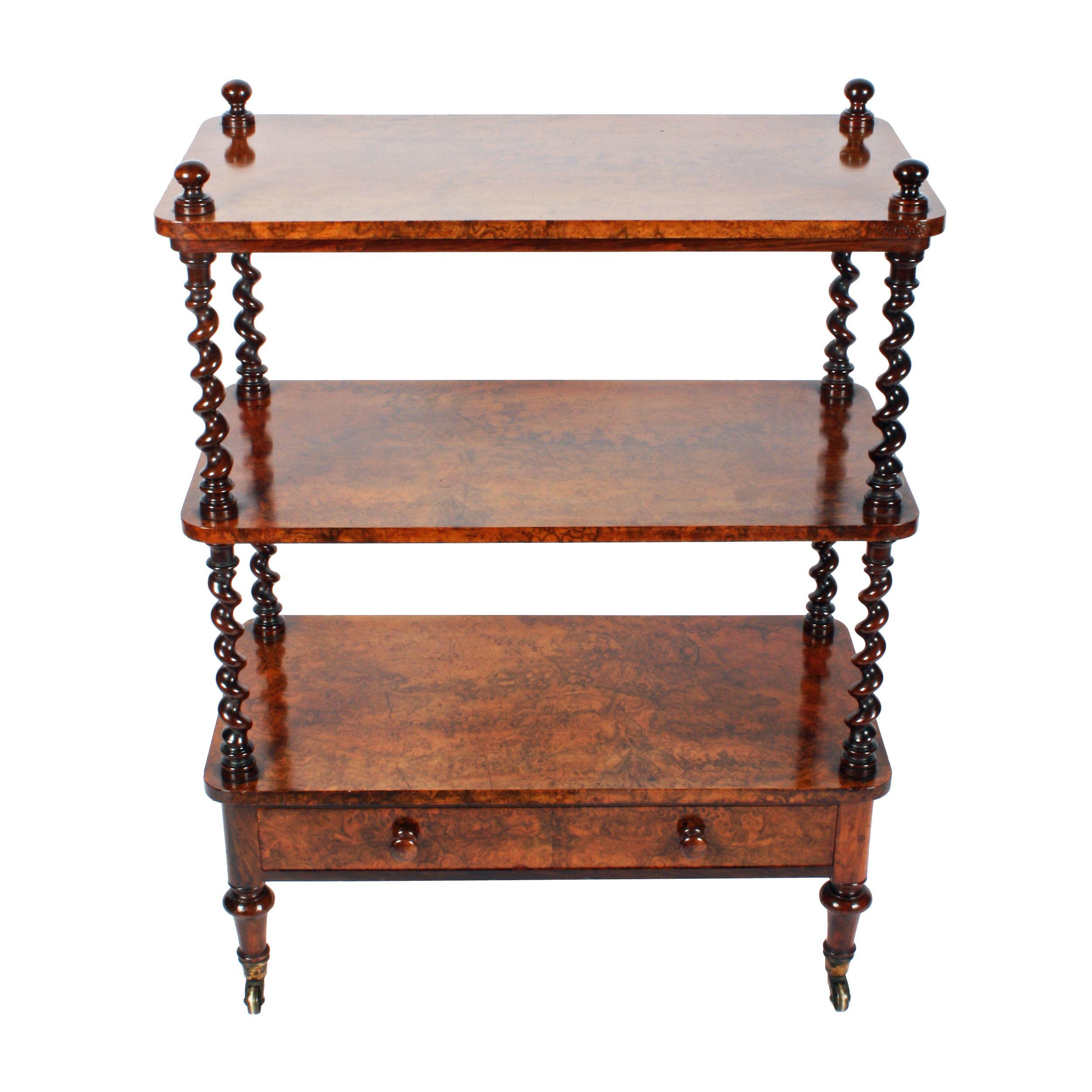 Furniture · Victorian Burr Walnut Whatnot