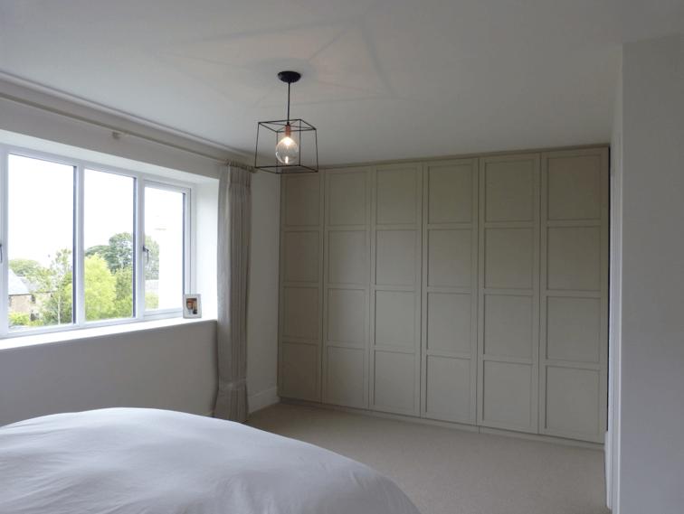 Bedroom Cupboards In Little Greene Slaked Lime Deep