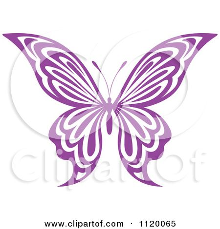 19++ Purple butterfly outline clipart ideas