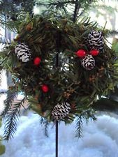 shepherd hooks and Christmas wreath