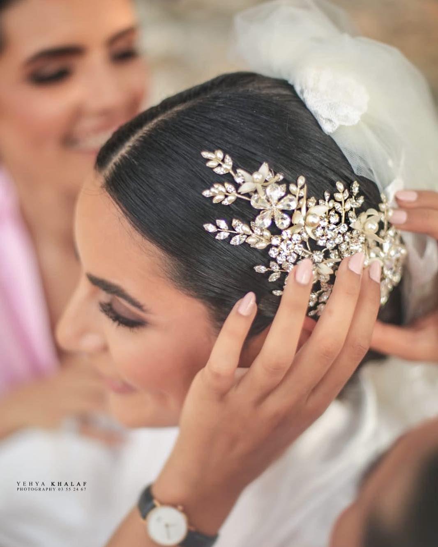 3 875 Likes 24 Comments Basma Hamze بسمة حمزة Basmabhamze On Instagram H E A D P I E C E Instagram My Wedding Bridal Make Up