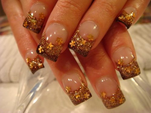 Gold acrylic nails designs nail simple design ideas nails acrylic nail art prinsesfo Image collections