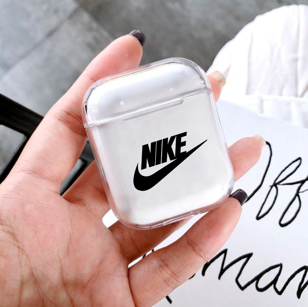 Airpods Case Inspired Nike Apple Airpods Clear Case Plastic Etsy