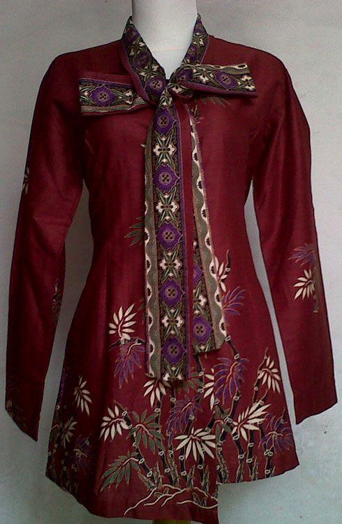 Model Baju Batik Kerja Wanita Modern Terbaru 2015  4d040e35e4