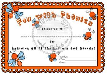 Fun With Phonics Certificate Phonics Alphabet Activities Fun