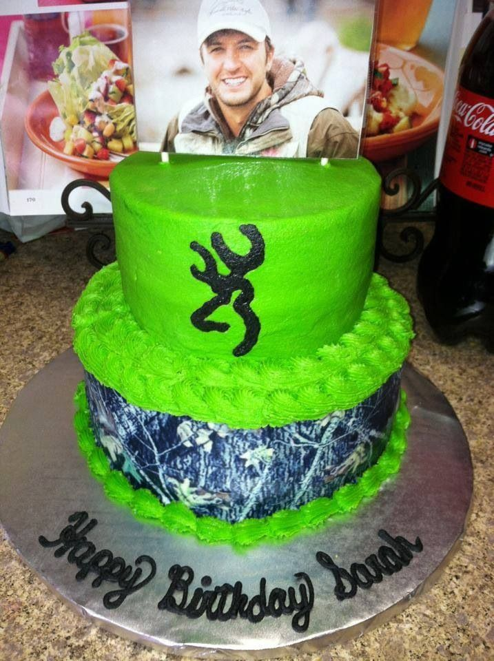 A Luke Bryan And Browning Cake With Images Camo Birthday Cakes