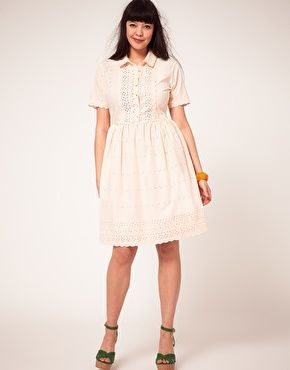 b383faaf255 Enlarge ASOS CURVE Shirt Dress In Cotton Embroidery Curvy Fashion
