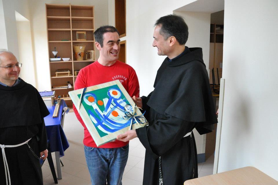 l'Artista e il Padre Custode :)