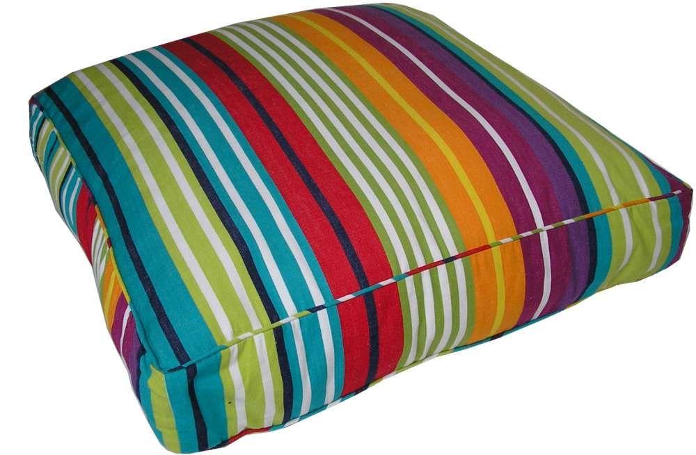 Rainbow Striped Floor Cushions Large
