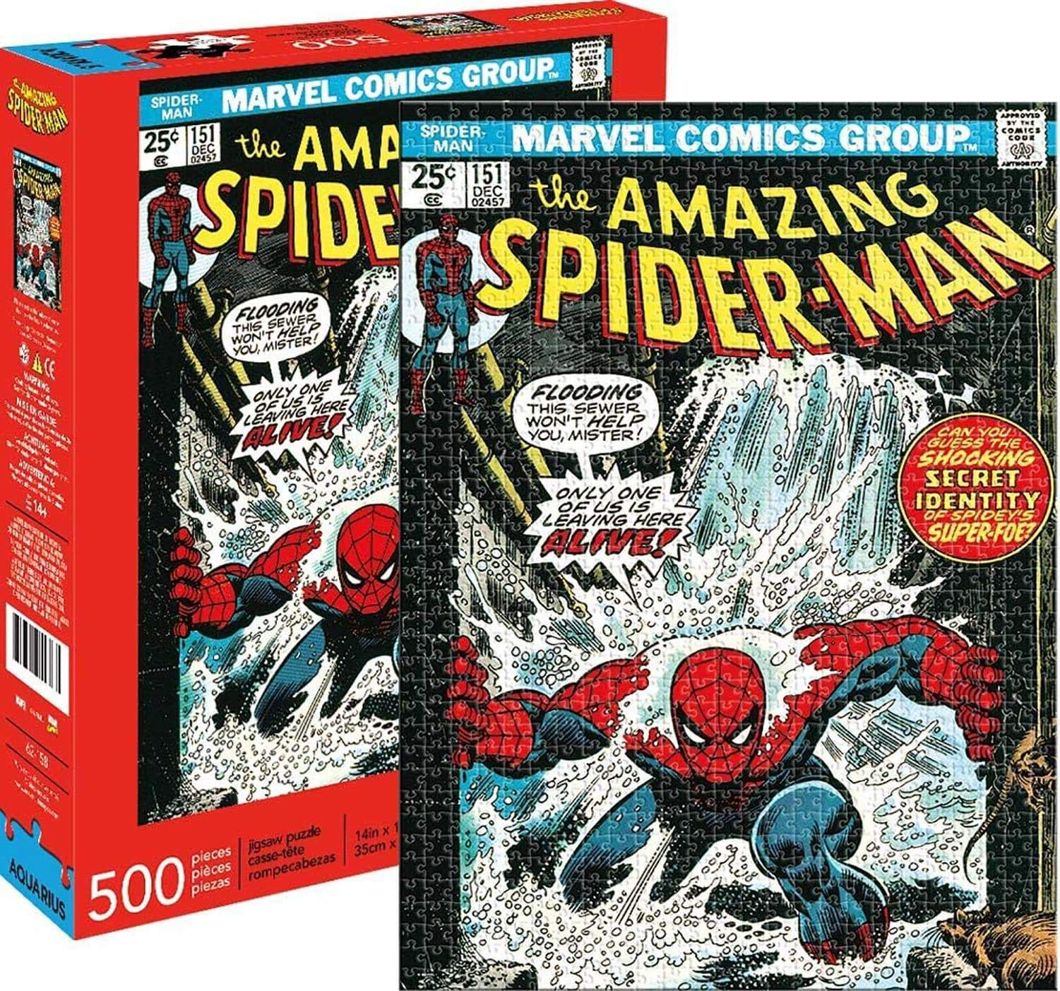 Marvel Spider Man 151 Comic Cover 500 Piece Jigsaw Puzzle Marvel Spiderman Spiderman Spiderman Comic