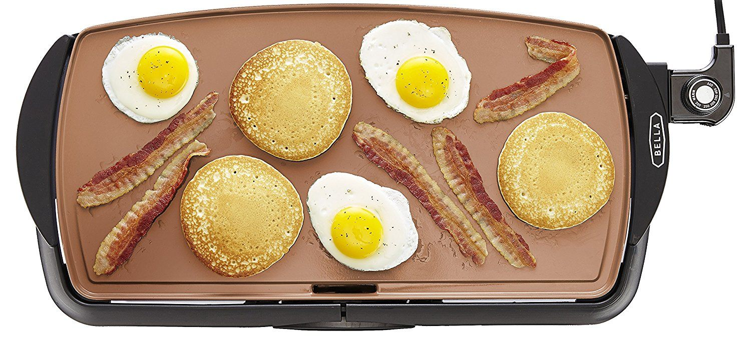 Amazon 10 5 X 20 Inch Copper Titanium Coated Electric Non Stick Griddle Just 17 99 Reg 29 99 As Of 4 30 2018 12 48 Pm Edt No Cook Meals Food Yummy Food