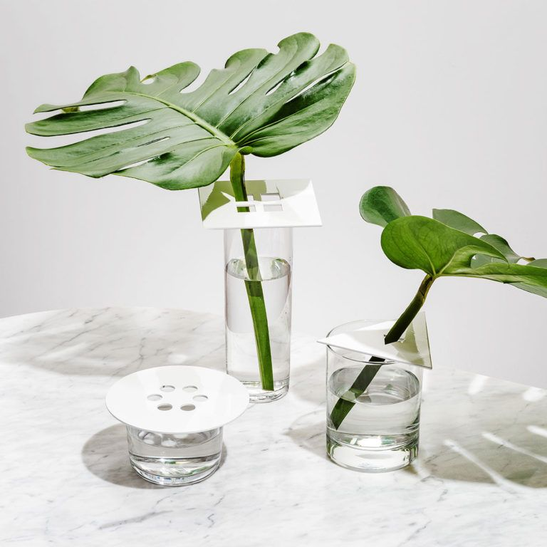This set of 3 playfully simple shapes instantly transform vessels into vases. Designed to accommodate a variety of vessel and stem diameters—these cork-backed Anywhere Vases make displaying and arranging your flowers and foliage effortless! Made in the USA. Powder coated steel, cork Set of 3 : circle, square, triangle White or Tan/Mint/Cobalt 4.75″ (circle), 4″... View Article