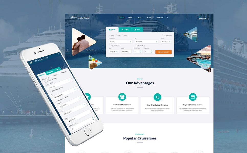 Cruise Travel Travel Agency Multipage Website Template