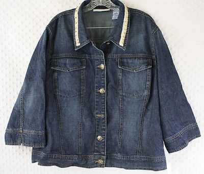First Issue Liz Claiborne Ladies Sz 3X Solid Blue Denim Jacket w/ Beading NWT https://t.co/ecxa0Y4CC2 https://t.co/8DmXOAhhrm