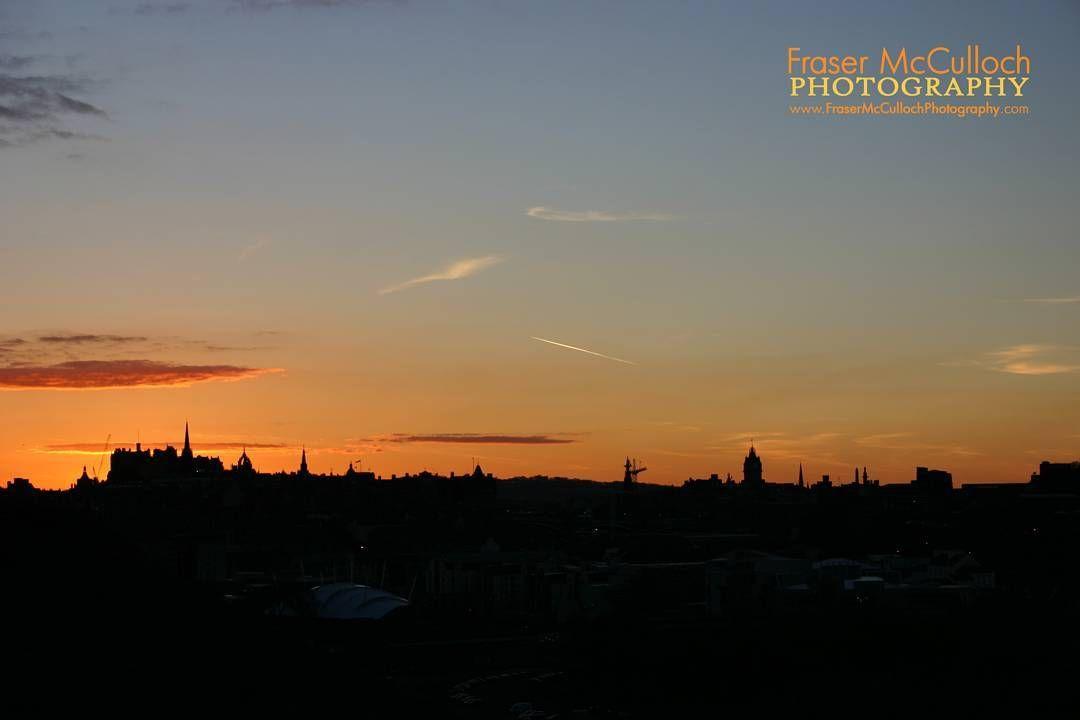 Sunset over Edinburgh 2 The sun setting behind Edinburgh Castle, taken from St Anthony's Chapel ruins.  #edinburghcastle #edinburgh #scotland #castles #sunset #silhouette #skyline #cityscape #dusk #frasermccullochphotography #visitscotland #royalmile #clear #edinburgh_snapshots