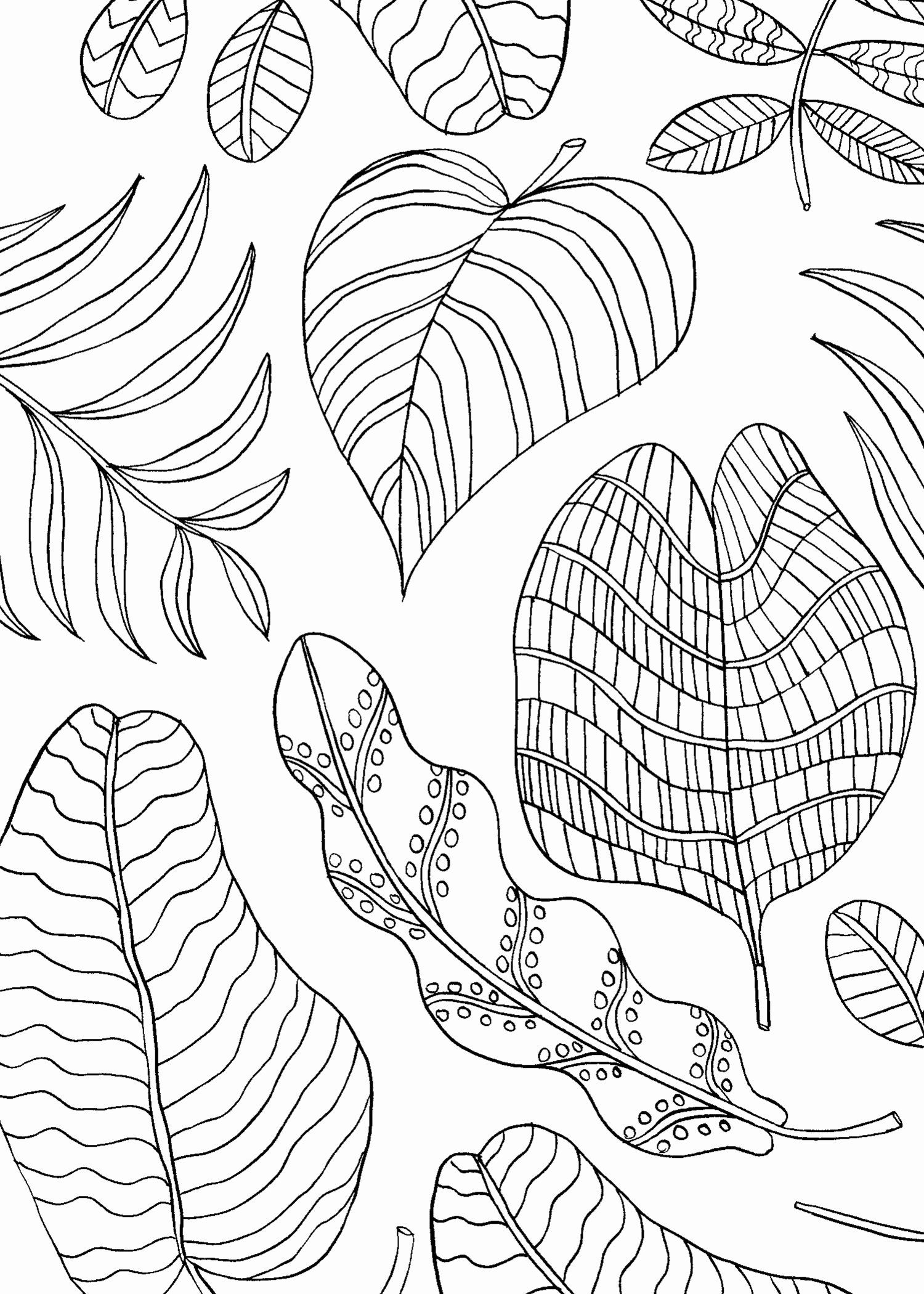 Coloring Pages Tree Leaves Elegant Mindfulness Coloring Pages Best Coloring Pages For Kids