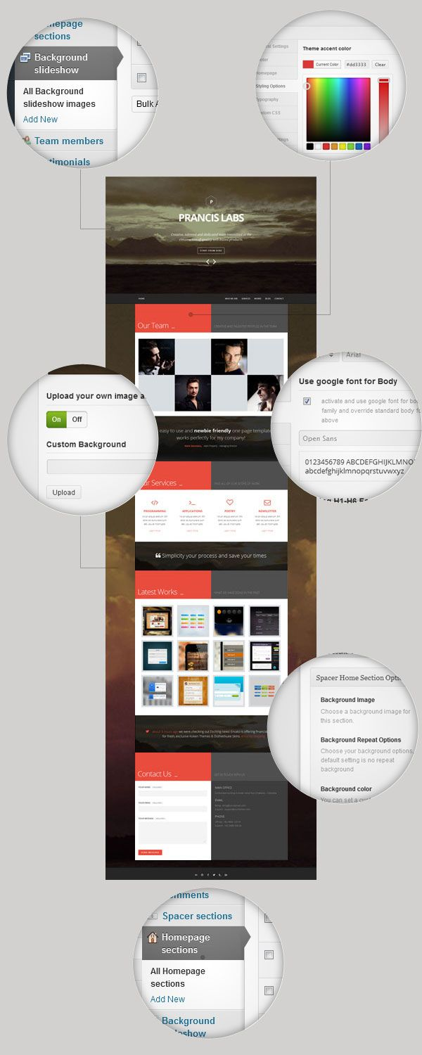 Modern And Responsive One Page Wordpress Theme That Perfect For Agency Studio Creatives To Showcase Portfolio Or Represent Your Company Profile
