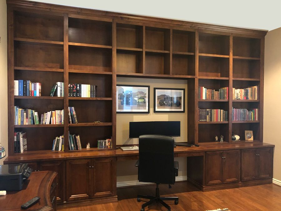 Desk And Wall Unit In 2020 Bookshelves Built In Office Built Ins Built In Desk