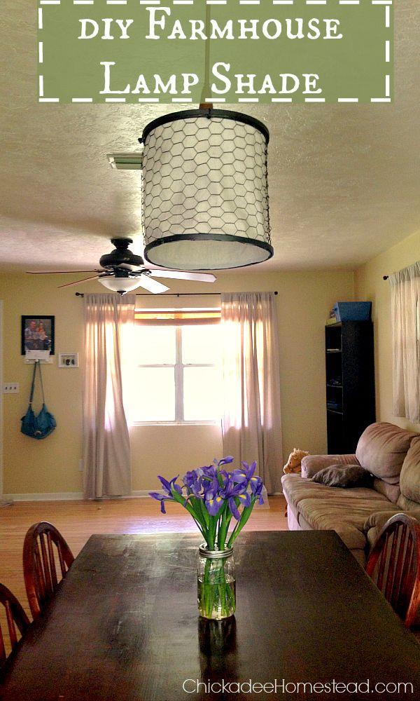 Diy Farmhouse Lamp Shade Farmhouse Lampshade Farmhouse Lamps Hanging Lamp Shade