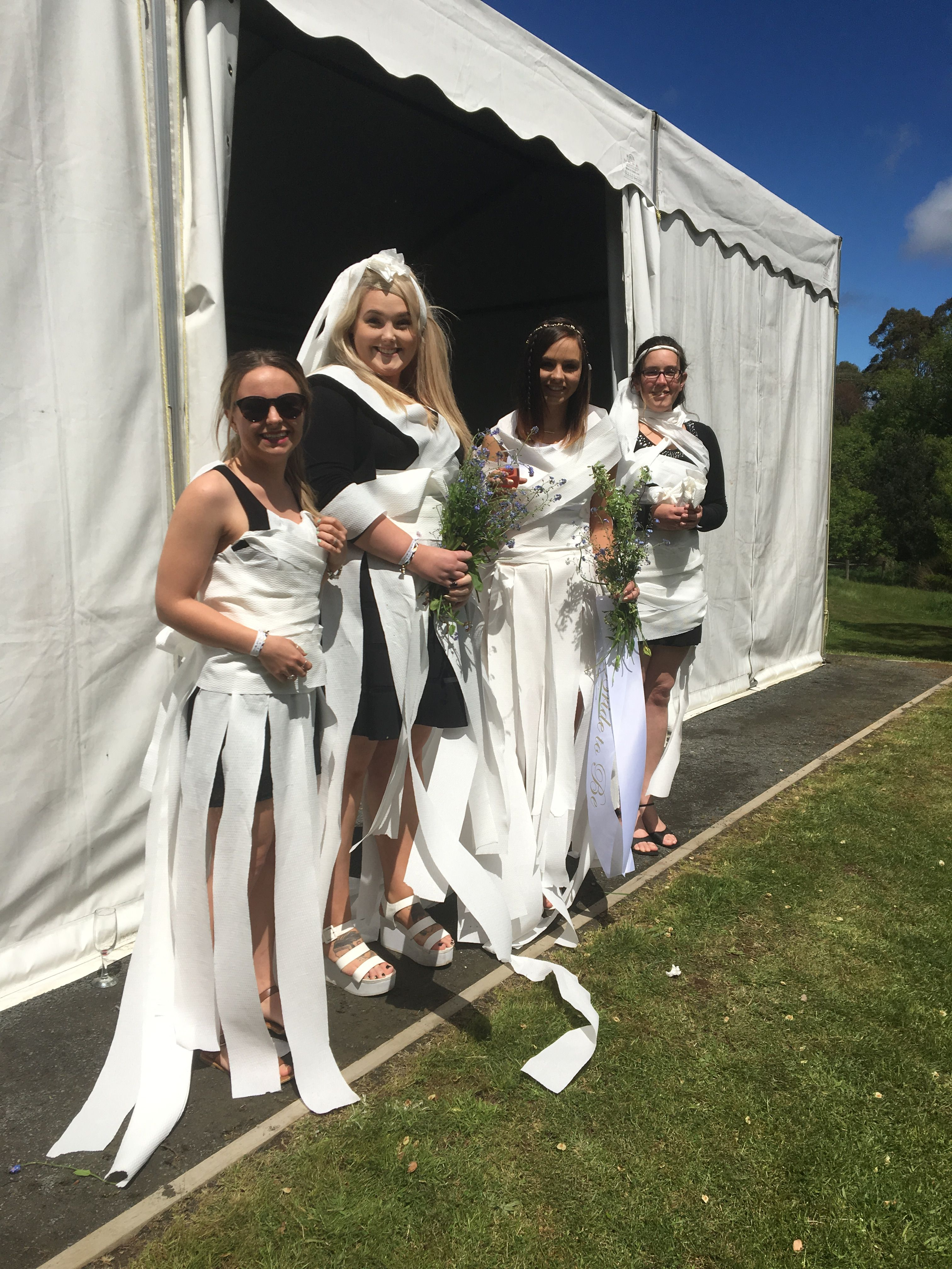 Hens day game idea- toilet paper wedding dress competition and ...