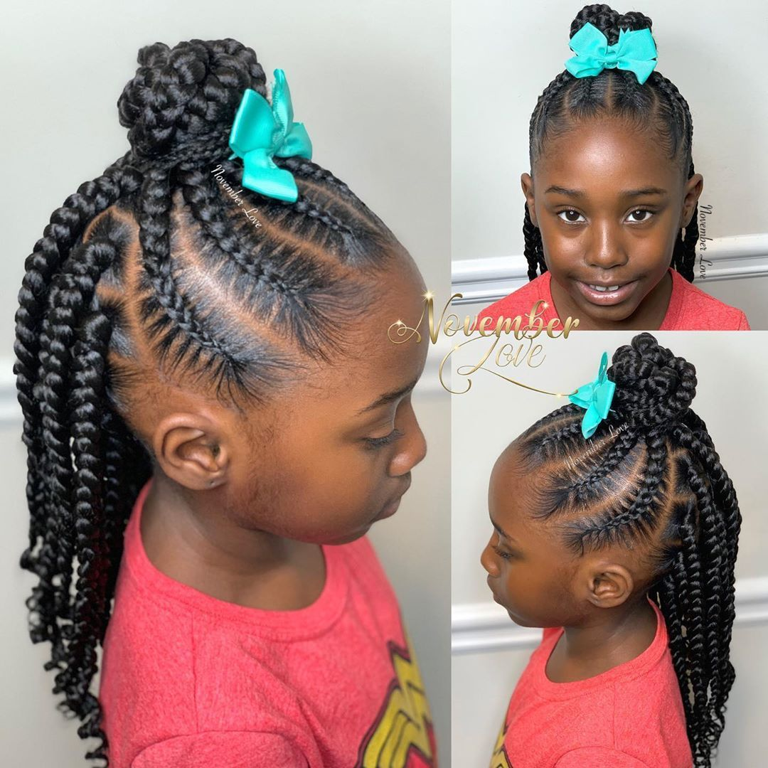 November Love On Instagram Book Large Feed Ins With Box Braids Feedinbraids Kidsfeed In 2020 Natural Hairstyles For Kids Little Girl Braid Styles Kids Hairstyles