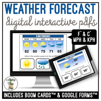 Weather Forecast Digital Interactive Activity Weather Forecast
