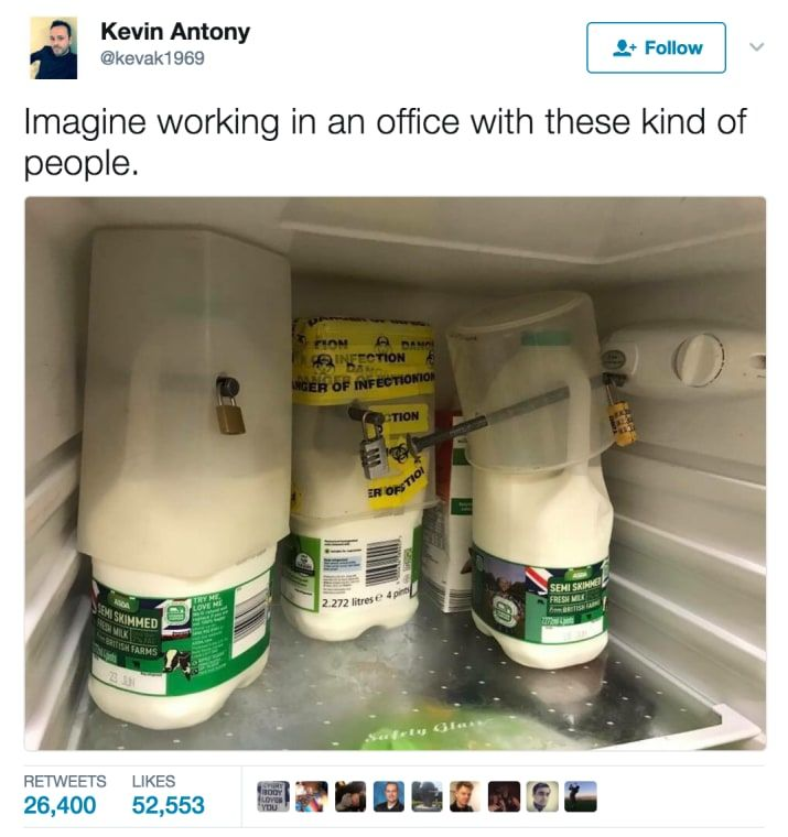 This Officer Who Found Padlocked Milk In The Fridge Proves