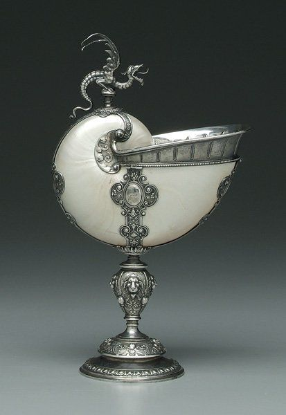 silver with baluster stem, lions, ribbons, cupids and flower buds, winged griffin finial, unmarked, silver tests . Private Collection, South Carolina.