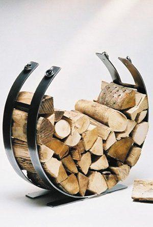 Ingarden Log Basket. Modern Forged Steel Log Holder. Beautifully ...