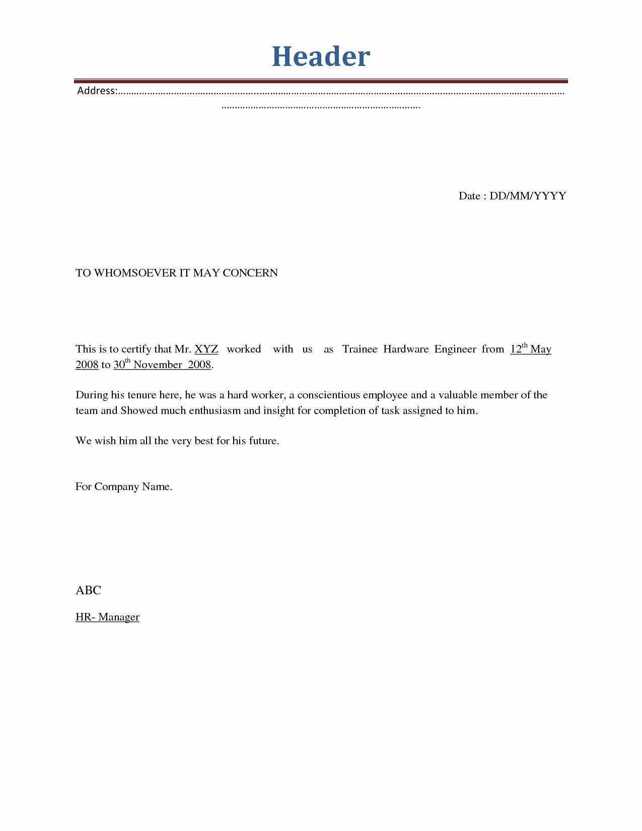 Separation Of Employment Letter from i.pinimg.com