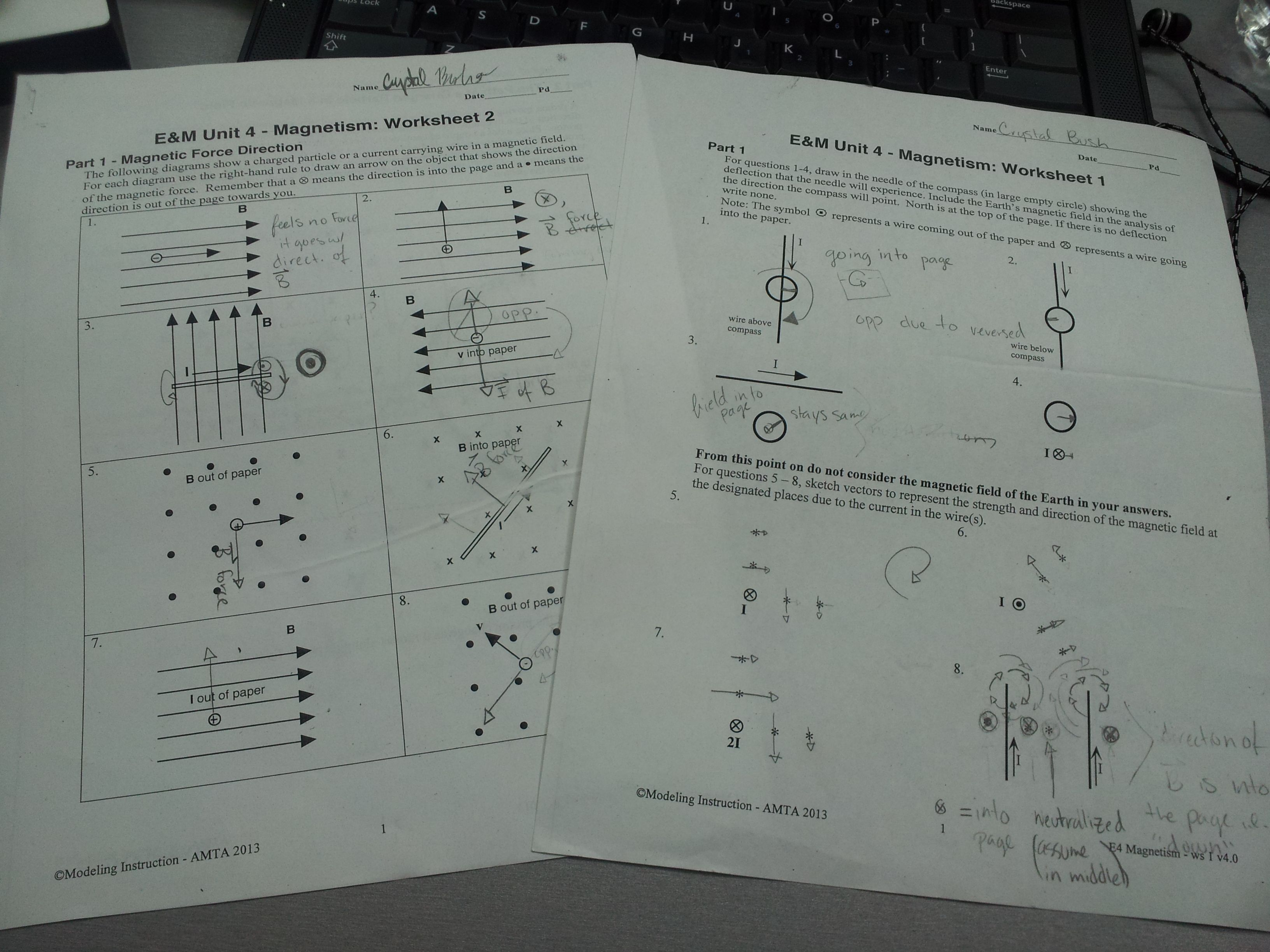 In Class Of Tuesday We Finishedstarted Em Worksheets 1 And 2 For