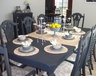 Color Graphite Annie Sloan Paint Changed An Ugly Dining Table And Chairs Into A Much Nicer Set At Loving Life Blog