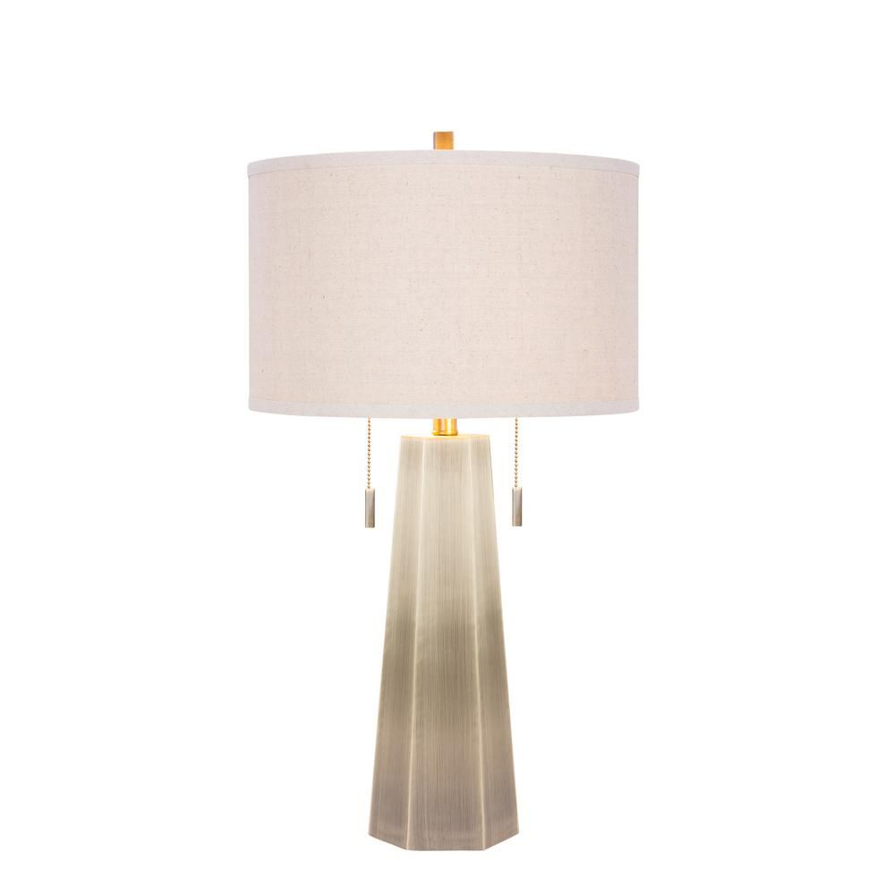 Table Lamps At Home Depot Simple Fangio Lighting 30 Inmetal Table Lamp In Antique Brass  Metal Inspiration