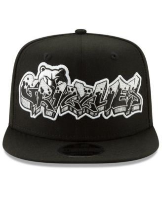 sneakers for cheap 8f08e 4ca4d New Era Memphis Grizzlies Retroword Black White 9FIFTY Snapback Cap - Black  Adjustable