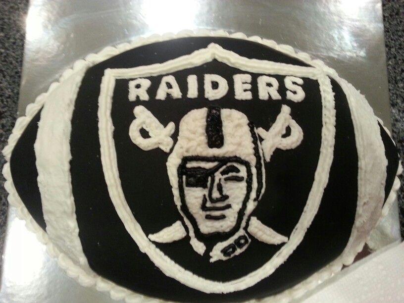 Oakland Raiders Birthday Cake Cakes Pinterest Birthday Cakes