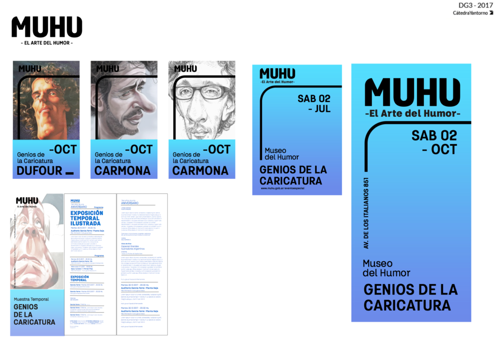 Y3 TP2 MUSEO Cátedra Yantorno Graphic design
