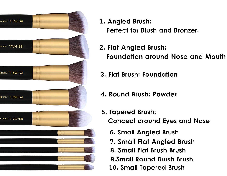 Premium Makeup Brush Set Synthetic Kabuki Cosmetics