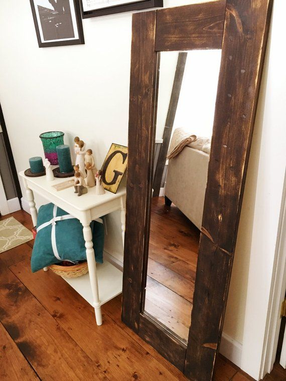 Reclaimed Wood Framed Floor Mirror Wood Mirror Dressing Room