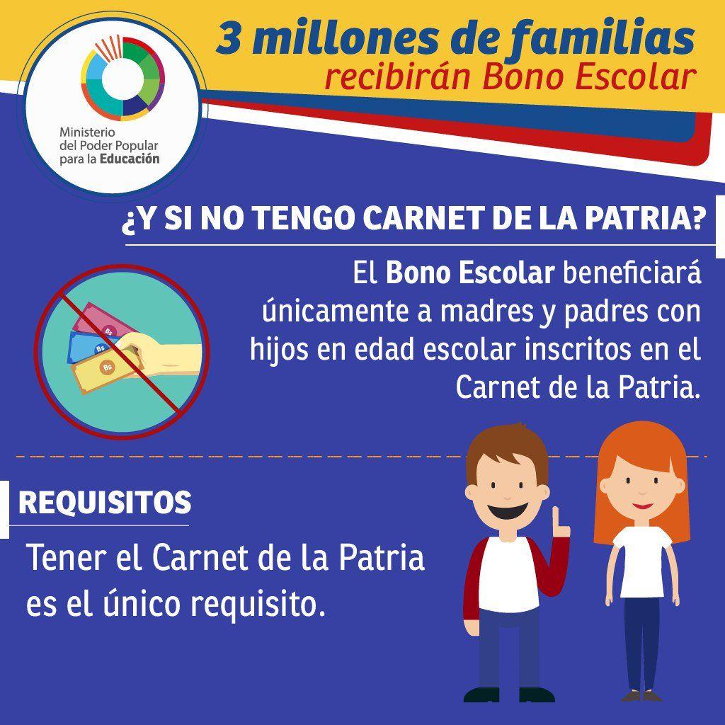 Resultado de imagen para bono escolar 2018 venezuela