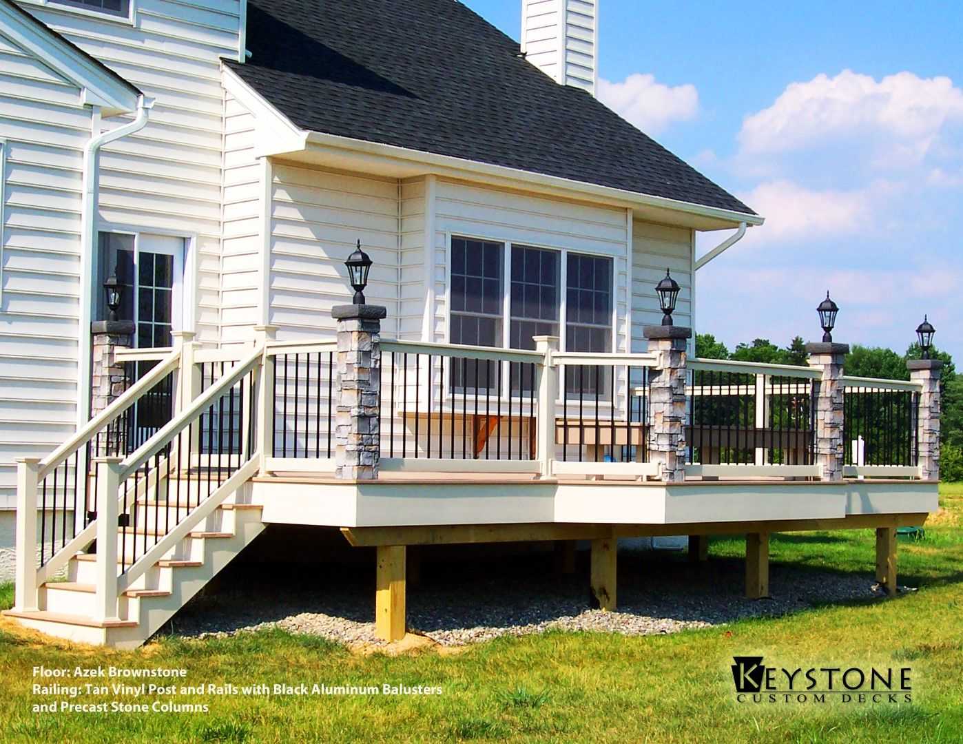 Best Azek Brownstone Decking With Tan Vinyl Post And Rails With 400 x 300