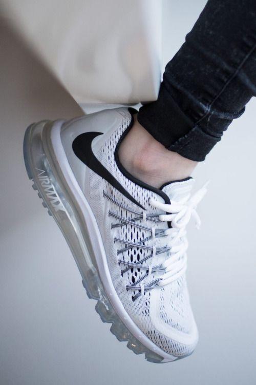 Tenis Nike Running Air Max 2015 Masculino Preto Branco