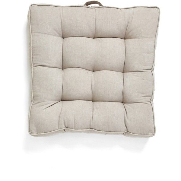 Nordstrom At Home Tufted Indoor/Outdoor Box Cushion (1,200 MXN) ❤ Liked On  Polyvore Featuring Home, Outdoors, Patio Furniture, Grey Opal, Grey Outdoor  ...