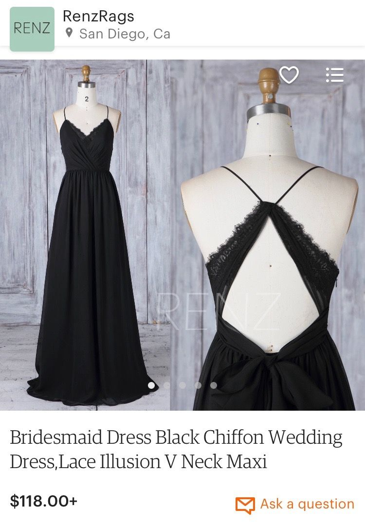 Pin by Miriam Binanzer on Style Obsessed  Black chiffon dress